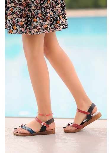 Pembe Potin A204-20 Kadın sandalet Renkli